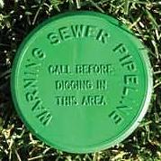 Underground Utility Marker Posts Signs Surface Markers